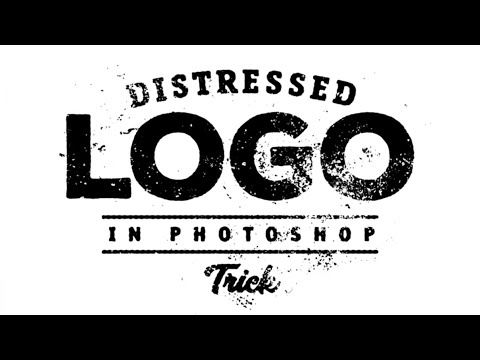 Photoshop: How to distress a logo effect