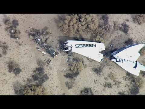 Virgin Galactic space tourism rocket crashes during test flight