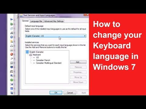 How to change Keyboard Language in Windows 7