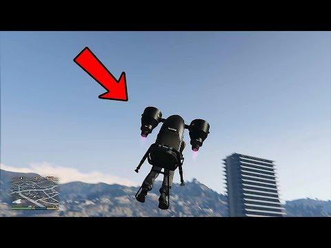 GTA 5 ONLINE THE DOOMSDAY HEIST DLC - Jetpack Mammoth Thruster Gameplay (GTA 5 DLC VEHICLES)