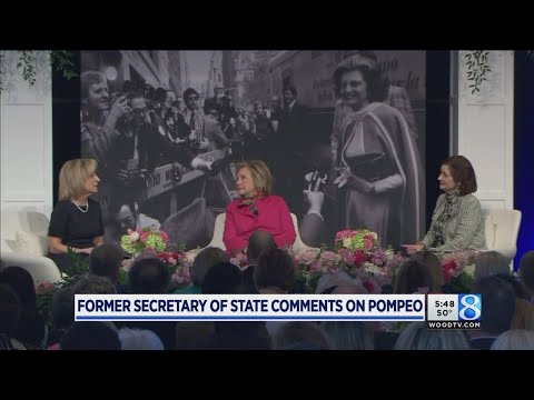 Hillary Clinton talks about Pompeo call during GR visit