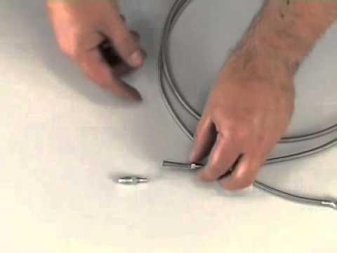 Shortening a steel flex tubing of a MAGURA Disc Brakes and Rim Brakes
