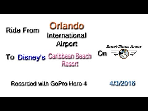 Disney's Magical Express - Airport to Disney's Caribbean Beach Resort