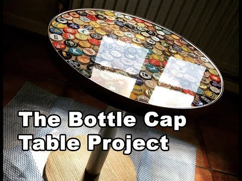 Beer Bottle Cap Table Tutorial Using Bottle Caps and Epoxy Resin