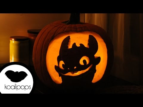 How to Make Toothless- How to Train Your Dragon Jack-O'-Lantern