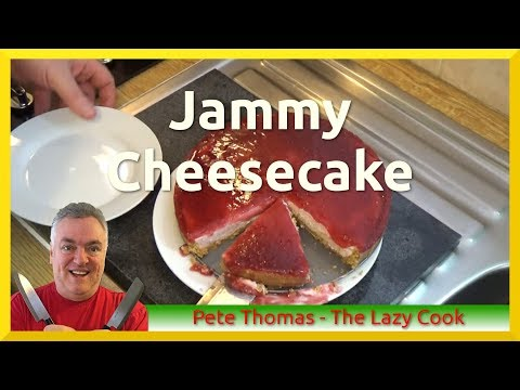 How to Make a No Bake Jammy Cheesecake with Raspberry Jam