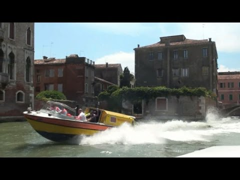 Venice - High Speed Water Taxi from Airport to City, July 2016
