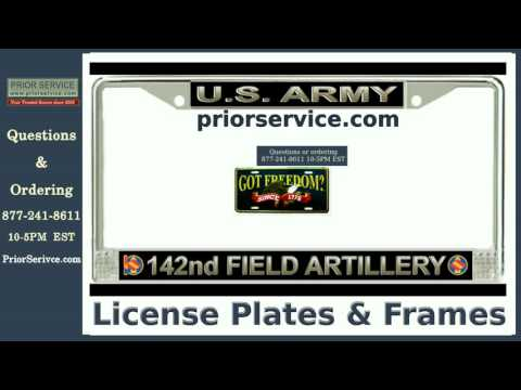 Army Brigade License Plate Frames | Military Gifts | Prior Service