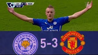 Leicester vs Manchester United 5 - 3   21 09 2014   English Commentary   HD