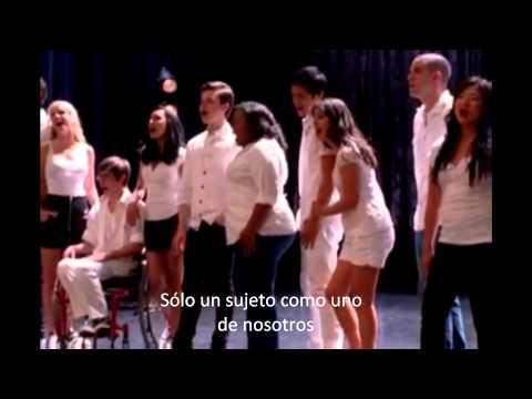 Glee One of Us Español (Full Performance).wmv