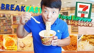 BEST FOOD at Singapore 7-ELEVEN | BREAKFAST Food Review