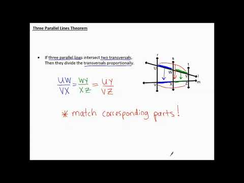 8.3e notes Three Parallel Lines Theorem