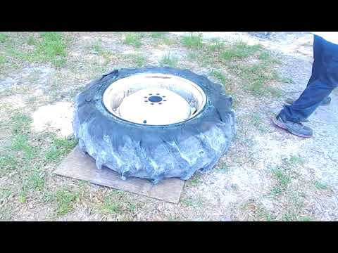 Ford 2000 Tractor Rear Tire & Tube Replacement