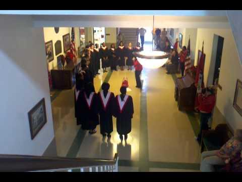 School choir at Ouachita county courthouse