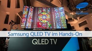 Samsung QLED TV Hands-On @ CES 2017 deutsch 4k