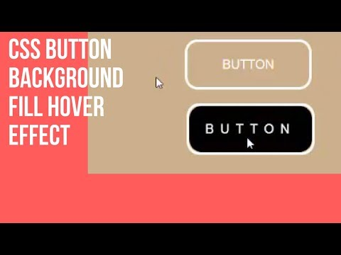 Css Button Hover Effects | Background Fill Hover Effect (2018)