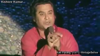 Kishore Kumar Singing Live Ye Jo Muhabbat Hai Ye Unka Hai Kaam Kati Patang 1971 RD Burman Anand