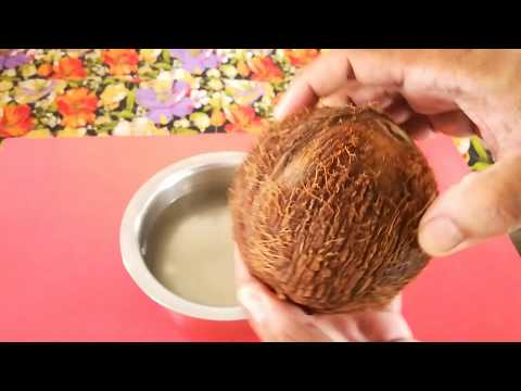 Simple and Easy Way to remove Coconut Flesh from Shell