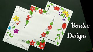 Border Designs On Paper School Project File Decoration Ideas For