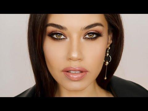 Full Glam Makeup using 1 Eyeshadow Palette   Smoldering Oscar 2018 Makeup   Eman