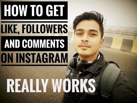 How to Get Followers , Like and Comments on Instagram. 100% working