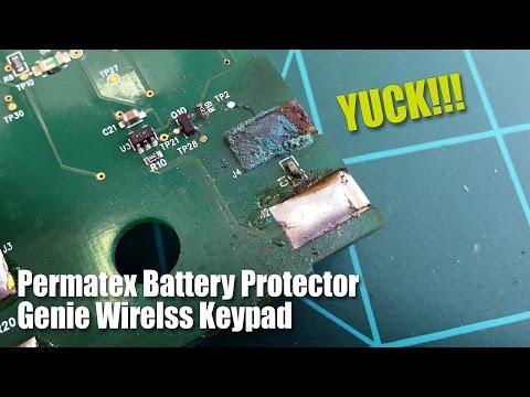 Genie Wireless Keypad Corrosion / Permatex Battery Protector
