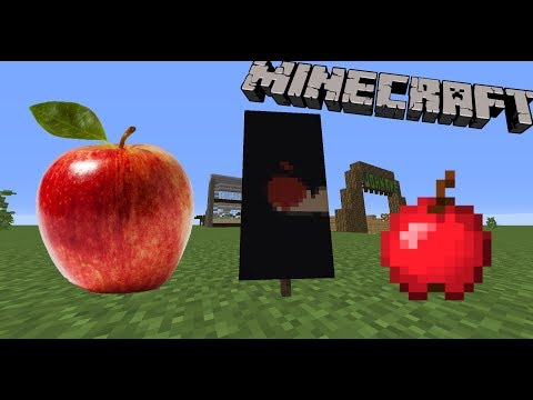 How to make an Apple Banner in minecraft!