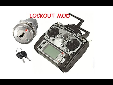 Flysky FS T6 Transmitter - Power  Key Lock Switch Mod (Lock your Transmitter with a key)