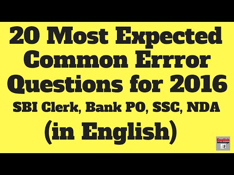 MOST EXPECTED SENTENCE CORRECTION QUESTION FOR SBI PO 2016 MAIN | IN ENGLISH