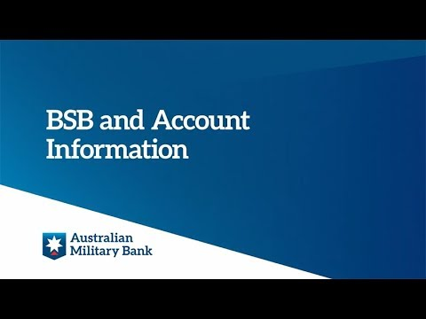 BSB and Account Information
