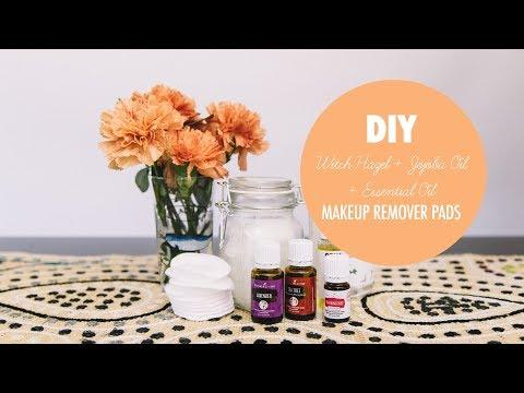 DIY Essential Oil & Jojoba Oil & Witch Hazel Makeup Removing Pads