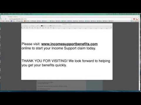 How to File Income Support Benefit Claim - Apply for Benefits and Jobseeker's Allowance