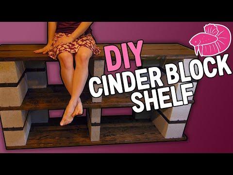 Cinder Block Aquarium Shelf Timelapse - Can I Make it Look Nice?