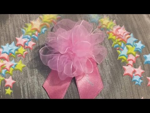 DIY tutorial how to make a flower from a tape easily