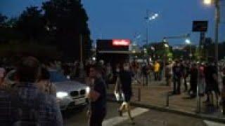 Riot police move to disperse Belgrade protesters