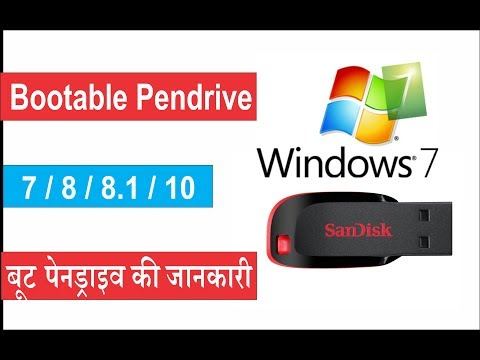 How to create bootable pendrive for windows 7,8,10