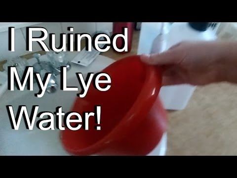 I RUINED my Lye Water and How I didn't waste it! / How To Make Soap