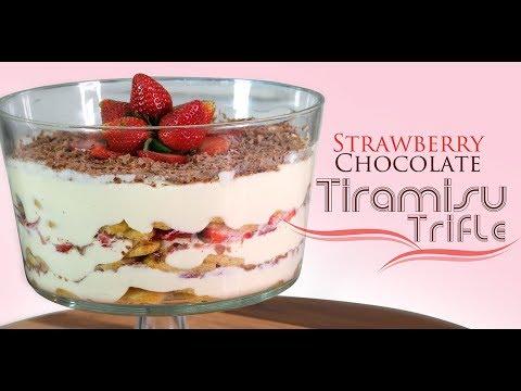 Strawberry Chocolate Tiramisu Trifle