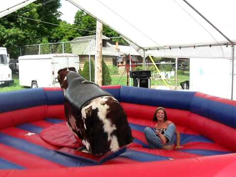 Mechanical Bull At The Fair.