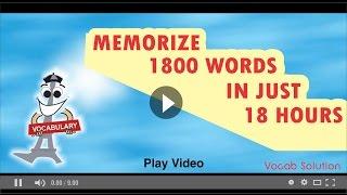 gre barrons word list playlist memorize 1800 words in just 18 hours