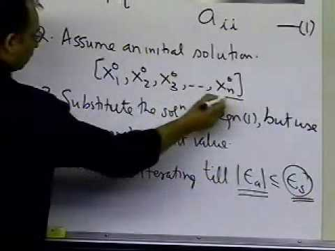 Gauss-Seidel Method of Solving Simultaneous Linear Equations: Theory: Part 2 of 2