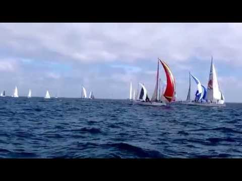 PHRF B Start- 40th Annual LYC/STC Ft. Lauderdale to Key West Race, 2015.