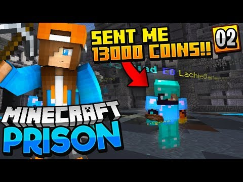 SOMEONE GAVE ME 13,000 COINS!! - Minecraft Prisons EP.2 (Pocket WIN 10 Edition)