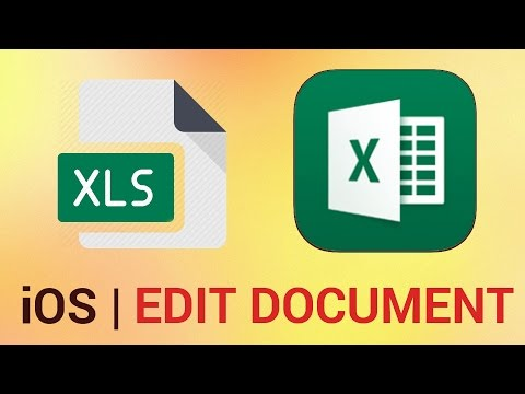 How to Edit an Existing Document in Excel for iPad