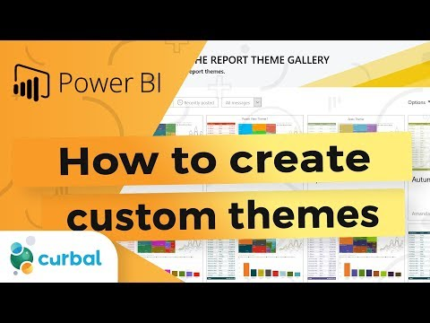 How to create custom color themes - Power BI Tips & Tricks #34