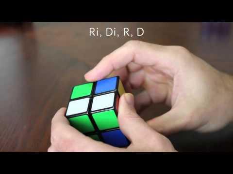 Solving a 2x2 Mini Rubik's Cube   4 Square