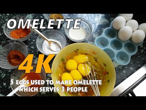 Omelette Perfect Indian style | Quick and easy masala Omelette | 4K