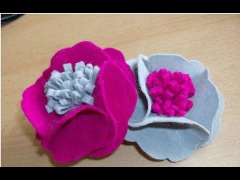 DIY flower - DIY brooch from fabric