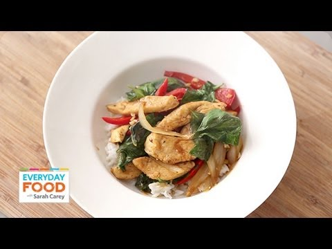 Chicken and Basil Stir-Fry - Everyday Food with Sarah Carey