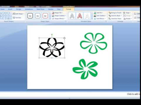 How to make flower by letters (powerpoint)
